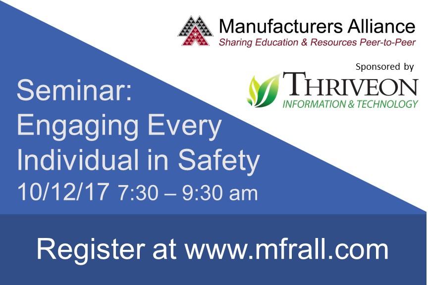 Thriveon sponsors Manufacturers Alliance seminar