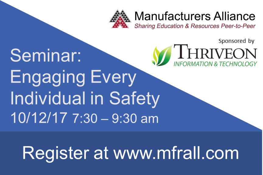 Thriveon sponsors Manufacturers Alliance seminar