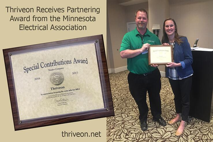 Thriveon Receives Partnering Award from Minnesota Electrical Association