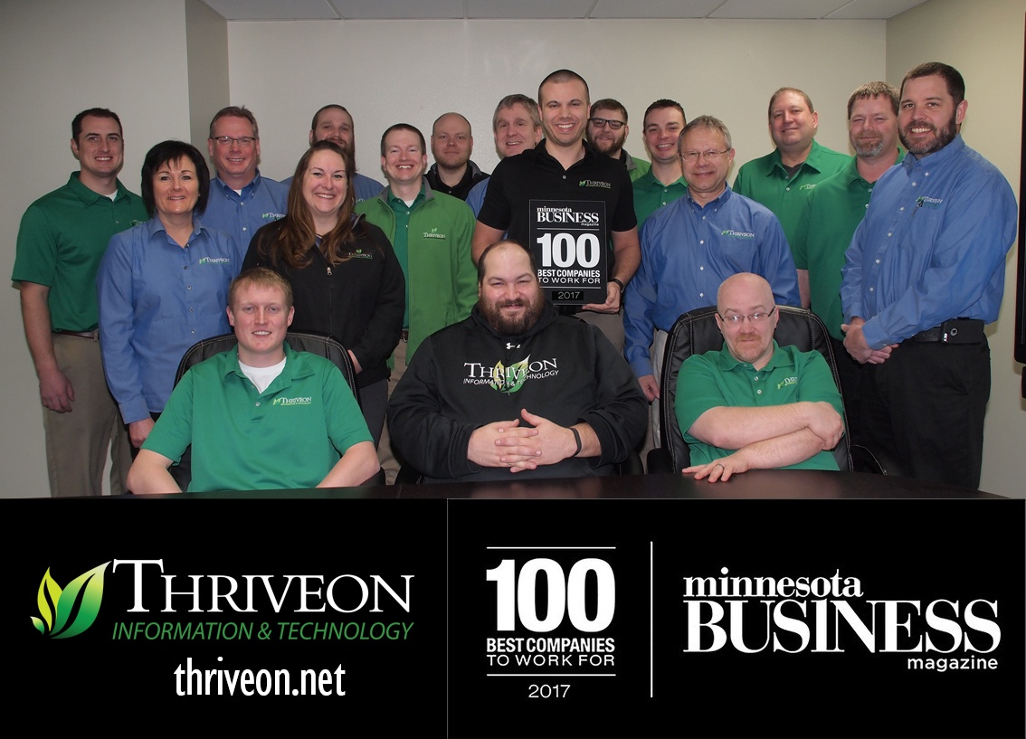 Thriveon is on Minnesota's 100 Best Companies to Work For List 2017
