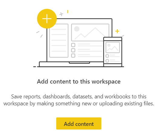 screen shot of workspaces add content